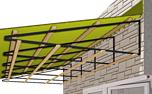 Установка крыши на балконе