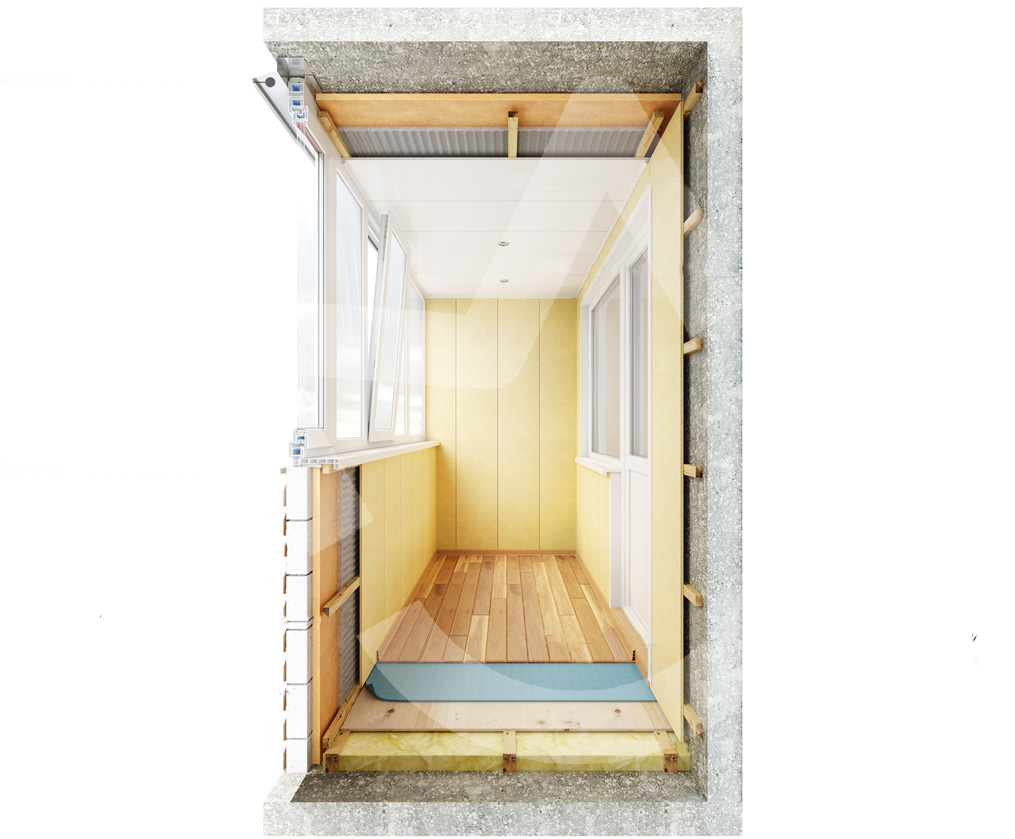 Этапы отделки балкона пошаговая инструкция